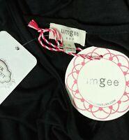 NWT Umgee Small Cold Shoulder Tunic Boho Top Shirt Short Bell Sleeves Black NWT
