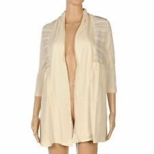 DARLING Cardigan Cream 'Keely' Long Open Size Medium RRP £55.95 FM 60