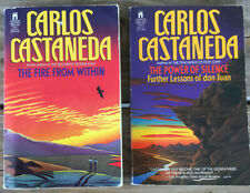 Carlos Castaneda Books Lot of 2 The Fire from Within & The Power of Silence PB