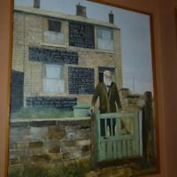 """John Ridgewell Portrait of Herbert Thorpe """" The Prophet of Meltham """" 1980"""