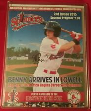 ANDREW BENINTENDI SIGNED 2015 LOWELL SPINNERS SOUVENIR PROGRAM Auto Red Sox