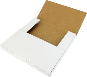 """(10) 12"""" White Record Shipping Boxes Mailers Holds 1-3 Vinyl LP 33RPM 12BC01VDWH"""