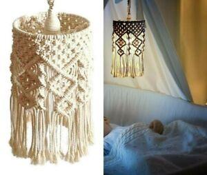 Lampshade Bohemian Tapestry Handmade Woven Macrame Wall Hanging Lamp Room Decor