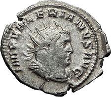 VALERIAN I 258AD Mediolanum Securitas Authentic Ancient Silver Roman Coin i58531