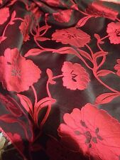 """Red and black curtain fabric, material for curtains and cushions. 58"""" Wide"""