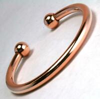 Mens And Ladies Pure Solid Copper Torque Magnetic Bangle Bracelet Heavy (BG45)