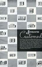 1948 Print Ad of Jensen Customode Entertainment Center or Ham Shack