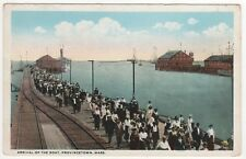 PROVINCETOWN MASSACHUSETTS PC Postcard P-TOWN Arrival of Boat CAPE COD Mass MA