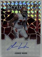 2020 Mosaic Football JIMMIE WARD Scripts AUTO #S21 SILVER PRIZM 49ers SP