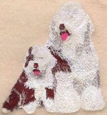 Embroidered Short-Sleeved T-Shirt - Old English Sheepdog I1046 Sizes S - Xxl