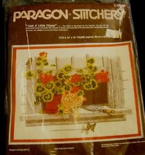 New Crewel Kit Paragon 'Just A Little Closer' Kitten Cat Flowers 0830