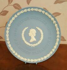 Wedgwood Blue JasperWare Silver Jubilee Plate   (pt24)