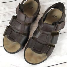 42b645e5974a Nunn Bush Men s Size 10M Brown Leather Sandal Open Toe Fisherman Casual