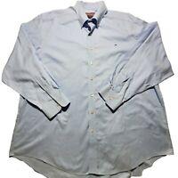 Vineyard Vines Men's Whale Blue Striped Button Up Tucker Shirt Size 2XL