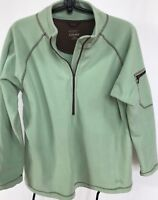 """Cabela's Green 1/2 Zip Pullover Fleece Sleeve Pocket L Shoulders 18"""" Chest 44"""""""