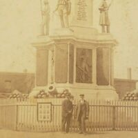 Soldiers Sailors Civil War Monument Provident RI Kennedy Plaza Photo Stereoview