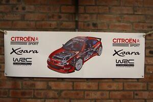Citroen Xsara WRC large pvc WORK SHOP BANNER garage SHOW