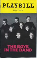 BOYS IN THE BAND Playbill OPENING NIGHT Jim Parsons Zachary Quinto Matt Bomer