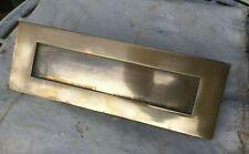 """Vintage sprung brass letterbox 12"""" x  4"""""""