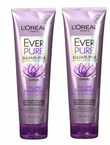 L'Oreal Ever Pure Sulfate Free Volume Shampoo Lotus 8.5 Fl Oz (Pack of 2)