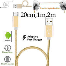 Durable Braided Fast data charger micro usb cable Sony Xperia Z5 Premium M5 M4
