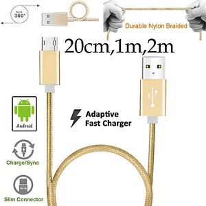 Nylon Data Sync Charger Micro USB Cable Cord for Vivo Y11 Y12 Y17 Y19 Y20 Y20s