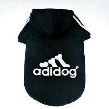 NEW Adidog Dog Shirt Clothes Warm Hoodie Coat Sweatshirt NEW for XL Dogs Black