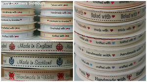 Ribbon - Made with, Made in, Made by, Knitted, Crocheted, Baked, Flags