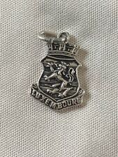 LUXEMBOURG Silver Travel Shield Enamel Charm