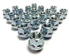 20x M12 x 1.5, 19mm Hex, Tapered Seat, Open Alloy Wheel Nuts (Silver) Ford Focus