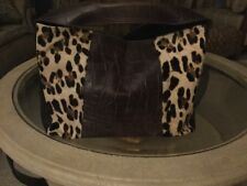 Italian Made Leopard Calf Hair And Leather Handbag