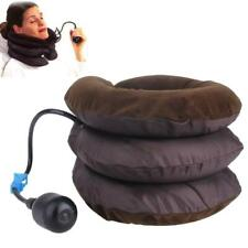 Neck Pillow Inflatable Air Massage Cervical Travel Car Head Neck Rest Support