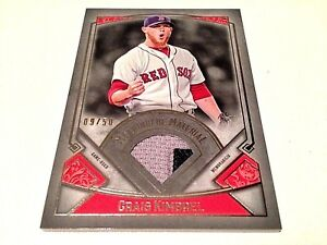 Craig Kimbrel 2017 Topps Museum Coll.Silver Meaning.Material 2cl GU Jersey #/50