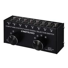 1PC New 3.5mm 6 Input 2 Output Port AV Audio Video Switcher Switch Selector Box