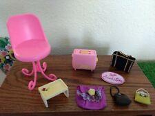 Lot of Barbie's Fashion Accessories & Housewares Plus New Decorative Tumbler