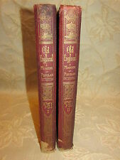 Set Of 2 Antique Collectable Books Of Old England A Pictorial Museum - 1864