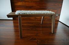 Minimaliste chêne bois indoor bench-rembourré gotland en peau de mouton tapis - 7