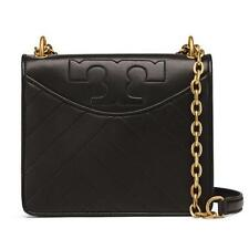 8107e9f86187 NWT TORY BURCH ALEXA Convertible Shoulder Cross-Body BLACK Quilted Leather   475