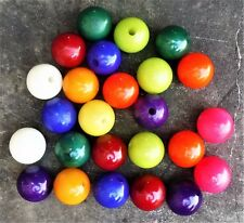 """100 Nylon 1"""" Balls Spheres with Drilled Holes Available in any Color DIY Craft"""