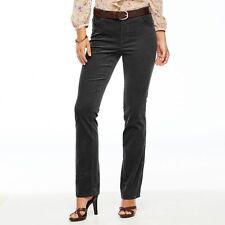NWT CHAPS Charcoal Gray Straight Leg Stretch Corduroy Cord Pants 14 x 32