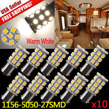 10x Warm White 1156 27SMD LED Light Bulbs Turn Signal Backup Reverse 1141 1003
