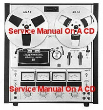 AKAI 202D-SS SURROUND ST TAPE DECK SERVICE MANUAL ON CD FRRE SAME DAY SHIPPING