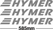 hymer motorhome decal/sticker x 3, 585mm long in any colour of your choice