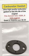 Zenoah G23,G26A,G38 Carburetor/Intake Gasket 2 Pack NIP