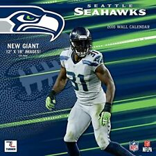 "2016 Wall Calendar Seattle Seahawk's Team Out of Print Images 12"" x 18"""