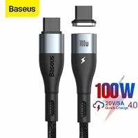 Baseus USB-C to Type C Cable Magnetic 100W PD Quick Charger for Samsung Macbook
