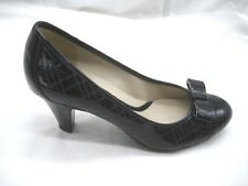 Naturalizer 9M 40 Brazen black womens ladies bow shoes heels dress pumps