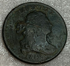 1808 Draped Bust Half Cent Copper Coin VG Free Shipping With Five Items B
