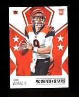 2020 Panini Rookies and Stars Joe Burrow Rookie Card RC Bengals #101