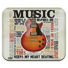 Music Inspires Guitar Low Profile Thin Mouse Pad Mousepad